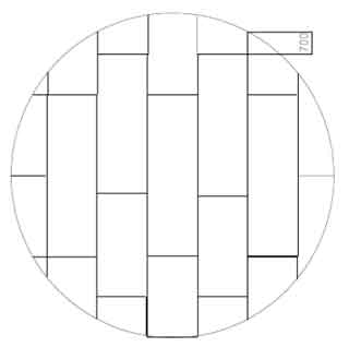 Layout for storage tank bottom annular plate welding without bow