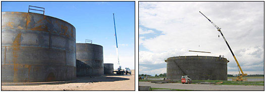 large vertical storage tanks