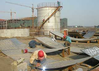 large storage tank manufacture