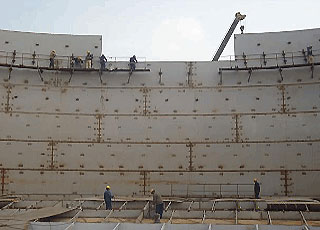 scaffold for storage tank construction