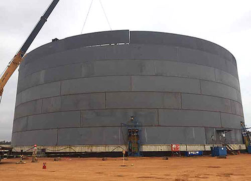 storage tank construction with traditional method